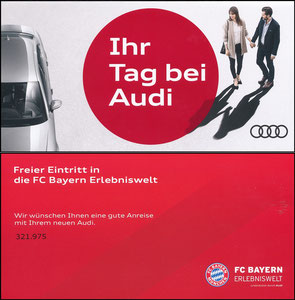 Bayern Erlebniswelt, 2019, Eintrittskarte 'Audi-Tag'