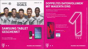 DFB, 2018, Samsung Tablet, A5 Klappflyer