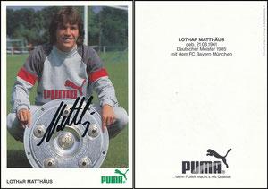 Matthäus, 1985, Puma, rückseitig Puma-Werbung