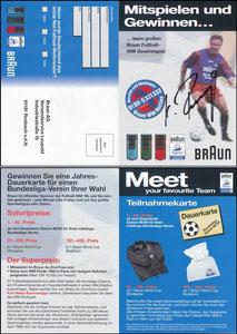 Rummenigge, 1998, Braun, Klappkarte
