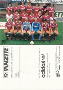 Rummenigge, 1988, Servette-Genf, Mannschaftskarte, signiert Rummenigge