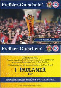 Paulaner, 2015, Paulaner Kiosk-Gutschein