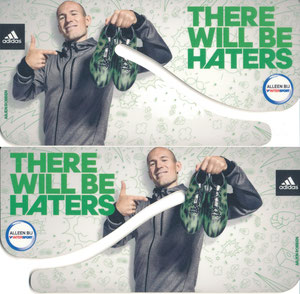 Robben, 2015, Intersport 'There will be haters', Silhouettenkarte