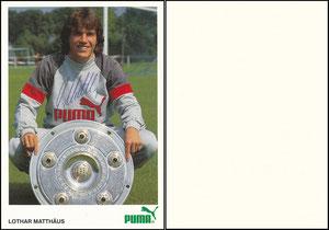 Matthäus, 1985, Puma, blanko Rückseite, OHNE Druck-Nr