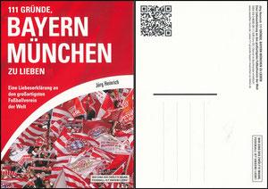 Postkarte, 2013, Buch '111 Gründe Bayern München zu lieben'