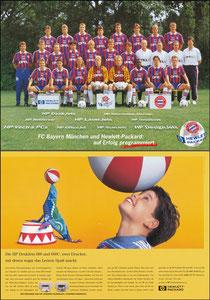 Mannschaftskarte 1995 'Hewlett Packard', A4