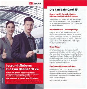 Ballack, 2010, DB Bahn 'Fan BahnCard 25'