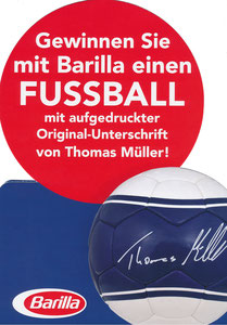Müller, Thomas, 2016, Barilla, Silhouettenkarte, A4