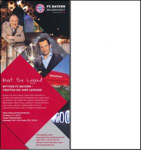 Bayern Erlebniswelt, 2015, 'Meet the Legend', Flyer