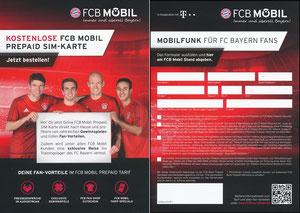 Bayern München, 2016, FCB Mobil, PrePaid-Karte, 'Gewinn Trainingslager'