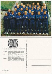 """Bergmann, 1966, """"WM 1966, Nr. 80"""", Mannschaftskarte mit Beckenbauer"""