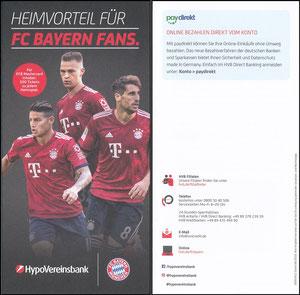 HypoVereinsbank, 2018, Booklet