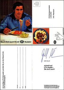 Müller, Gerd, 1970, UTA-Nudeln, Klappkarte