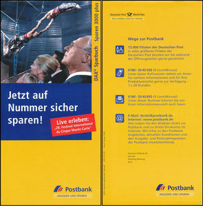 Beckenbauer, 2003, Postbank, Booklet
