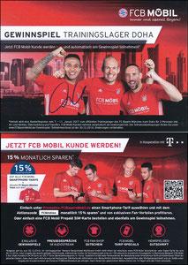 Bayern München, 2016, 12'2016, FCB Mobil 'Doha', sign. Thiago am 22.11.2019 vor dem Abflug zum Düsseldorf-Spiel