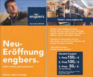 Helmer, 2004, Engbers 'Neueröffnung Engbers, Worms', REGIONALKARTE