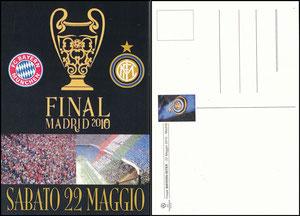 Postkarte, 2010, 'CL-Finale Bayern-Inter, Madrid', spanische Postkarte