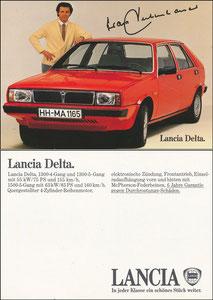 Beckenbauer, 1980, Lancia, Bildstand 'mit Lücke zwischen unterem Rand und Reifen', MIT Druck-AG