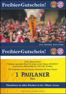 Paulaner, 2016, Paulaner Kiosk-Gutschein