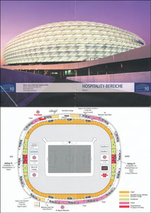 Allianz Arena, 2015, 'Hospitality Bereiche', Klappkarte