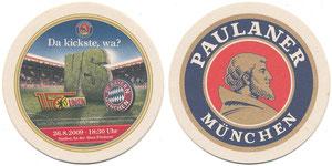 Bierdeckel, 2009, Paulaner, 'Union - Bayern'