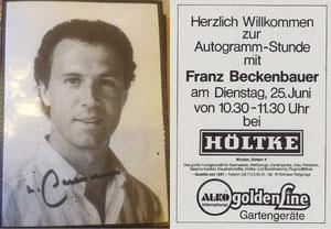 Beckenbauer, 1985, Höltke, , Dank an SF Norbert