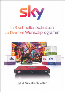 Sky, 2018, 'Bayern München Receiver'. A5 Booklet
