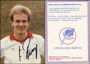 Rummenigge, 1982, SportsLife, italienische Werbekarte