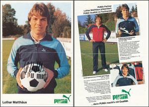 Matthäus, 1984, Puma, A5-Karte, ohne 'Puma-Partner'