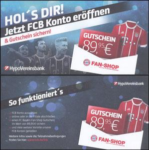 HypoVereinsbank, 2018, FanShop-Gutschein