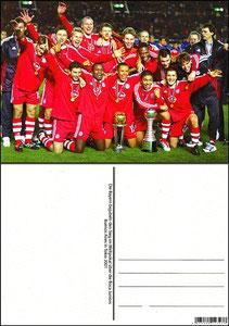 Fan Shop, Postkarte, '2001, Weltpokalsieger', Dank an SF Sven