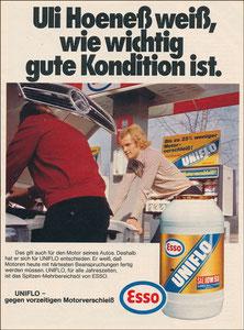 Hoeneß, Uli, 1970, Esso, Zeitungswerbung