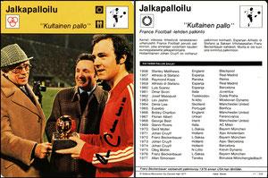 'Der Goldene Fall', Finnland, 1977, 11-258
