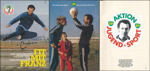 Beckenbauer, 1982, 'Jugend Sport', Booklet mit Aufkleber