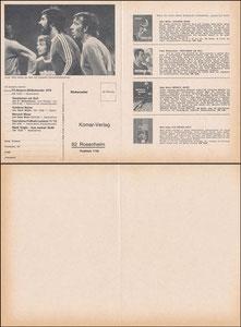Mannschaftskarte 1975, Komar, Klappkarte