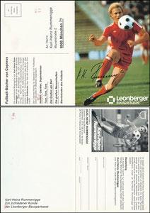 Rummenigge, 1981, Leonberger, mit Druck-AG, Klappkarte
