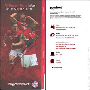 HypoVereinsbank, 2016, Booklet, signiert Lewandowski im Sept. 2018