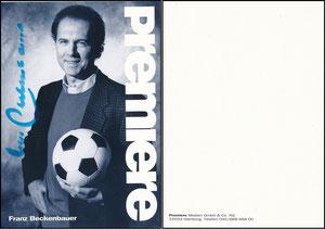 Beckenbauer, 1992, Premiere, Rückseite 1