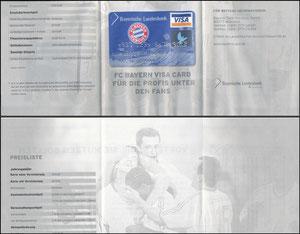 Bayerische Landesbank, 2002, Visa, Klappflyer