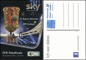 Sky, 2013, DFB-Pokalfinale, signiert Beckenbauer