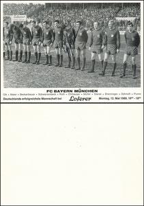 Mannschaftskarte 1969, 'Loferer' A5