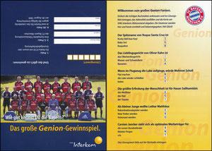 Mannschaftskarte 1999, 'Genion', Klappkarte