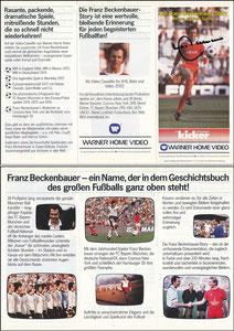 Beckenbauer, 1983, Film'Die Franz Beckenbauer Story', Flyer