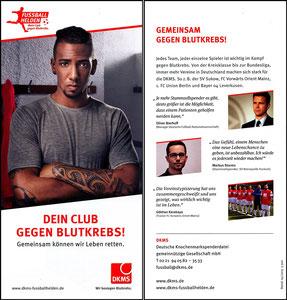 Boateng, 2015 Deutsche Knochenmarkspende, Flyer