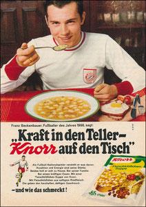 Beckenbauer, 1967, Knorr, Zeitungswerbung, Motiv 2