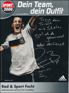 Schweinsteiger, 2007, Adidas Sport2000, Werbeblatt A4
