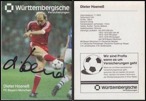 Hoeness, Dieter, 1985, Württembergische Versicherung, Version '3x Deutscher Meister', Dank an SF Klaus