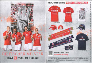 Fan-Shop, 2016, Flyer 'Meisterschaft', Dank an SF Robert