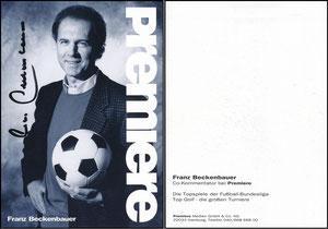 Beckenbauer, 1992, Premiere, Rückseite 2