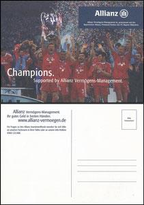 Mannschaftskarte 2001, 'Allianz, CL-Sieg', dünne Karte